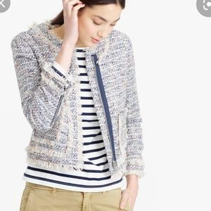 J.Crew Tweed Lady Jacket with Fringe